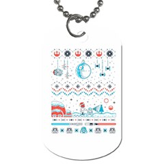 That Snow Moon Star Wars  Ugly Holiday Christmas Dog Tag (two Sides) by Onesevenart