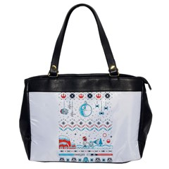 That Snow Moon Star Wars  Ugly Holiday Christmas Office Handbags by Onesevenart