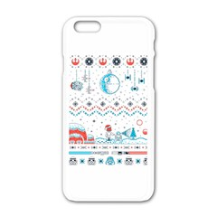 That Snow Moon Star Wars  Ugly Holiday Christmas Apple Iphone 6/6s White Enamel Case by Onesevenart