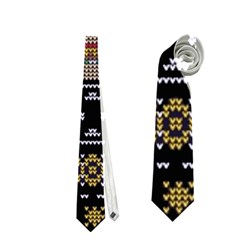 Ugly Summer Ugly Holiday Christmas Black Background Neckties (one Side)  by Onesevenart