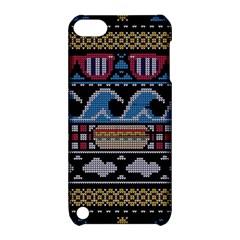 Ugly Summer Ugly Holiday Christmas Black Background Apple Ipod Touch 5 Hardshell Case With Stand by Onesevenart