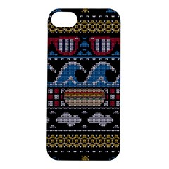 Ugly Summer Ugly Holiday Christmas Black Background Apple Iphone 5s/ Se Hardshell Case by Onesevenart