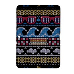 Ugly Summer Ugly Holiday Christmas Black Background Samsung Galaxy Tab 2 (10 1 ) P5100 Hardshell Case  by Onesevenart