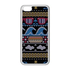Ugly Summer Ugly Holiday Christmas Black Background Apple Iphone 5c Seamless Case (white) by Onesevenart