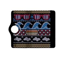 Ugly Summer Ugly Holiday Christmas Black Background Kindle Fire Hdx 8 9  Flip 360 Case by Onesevenart
