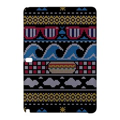 Ugly Summer Ugly Holiday Christmas Black Background Samsung Galaxy Tab Pro 12 2 Hardshell Case by Onesevenart