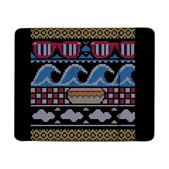Ugly Summer Ugly Holiday Christmas Black Background Samsung Galaxy Tab Pro 8 4  Flip Case by Onesevenart