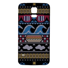 Ugly Summer Ugly Holiday Christmas Black Background Samsung Galaxy S5 Back Case (white) by Onesevenart