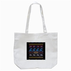 Ugly Summer Ugly Holiday Christmas Black Background Tote Bag (white) by Onesevenart
