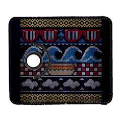 Ugly Summer Ugly Holiday Christmas Blue Background Samsung Galaxy S  Iii Flip 360 Case by Onesevenart