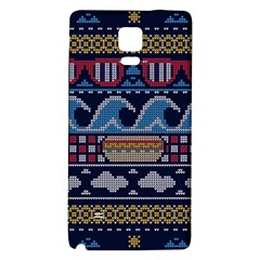 Ugly Summer Ugly Holiday Christmas Blue Background Galaxy Note 4 Back Case by Onesevenart