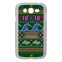Ugly Summer Ugly Holiday Christmas Green Background Samsung Galaxy Grand Duos I9082 Case (white) by Onesevenart