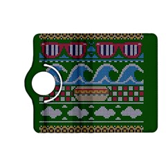 Ugly Summer Ugly Holiday Christmas Green Background Kindle Fire Hd (2013) Flip 360 Case by Onesevenart