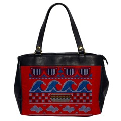Ugly Summer Ugly Holiday Christmas Red Background Office Handbags by Onesevenart