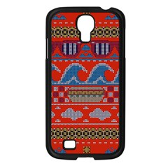 Ugly Summer Ugly Holiday Christmas Red Background Samsung Galaxy S4 I9500/ I9505 Case (black) by Onesevenart