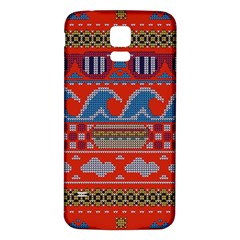 Ugly Summer Ugly Holiday Christmas Red Background Samsung Galaxy S5 Back Case (white) by Onesevenart