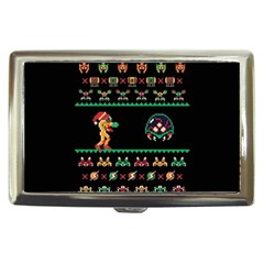 We Wish You A Metroid Christmas Ugly Holiday Christmas Black Background Cigarette Money Cases by Onesevenart