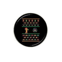 We Wish You A Metroid Christmas Ugly Holiday Christmas Black Background Hat Clip Ball Marker (10 Pack) by Onesevenart
