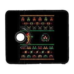 We Wish You A Metroid Christmas Ugly Holiday Christmas Black Background Samsung Galaxy S  Iii Flip 360 Case by Onesevenart