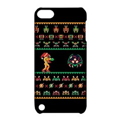 We Wish You A Metroid Christmas Ugly Holiday Christmas Black Background Apple Ipod Touch 5 Hardshell Case With Stand by Onesevenart