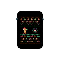We Wish You A Metroid Christmas Ugly Holiday Christmas Black Background Apple Ipad Mini Protective Soft Cases by Onesevenart