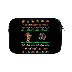 We Wish You A Metroid Christmas Ugly Holiday Christmas Black Background Apple Ipad Mini Zipper Cases by Onesevenart