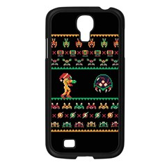 We Wish You A Metroid Christmas Ugly Holiday Christmas Black Background Samsung Galaxy S4 I9500/ I9505 Case (black) by Onesevenart