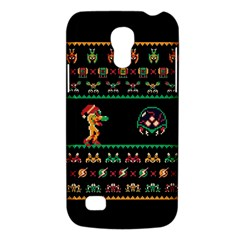 We Wish You A Metroid Christmas Ugly Holiday Christmas Black Background Galaxy S4 Mini by Onesevenart