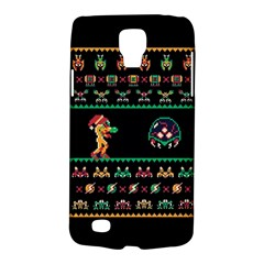 We Wish You A Metroid Christmas Ugly Holiday Christmas Black Background Galaxy S4 Active by Onesevenart