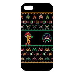We Wish You A Metroid Christmas Ugly Holiday Christmas Black Background Iphone 5s/ Se Premium Hardshell Case by Onesevenart
