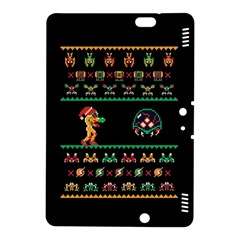 We Wish You A Metroid Christmas Ugly Holiday Christmas Black Background Kindle Fire Hdx 8 9  Hardshell Case by Onesevenart