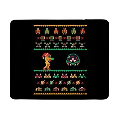 We Wish You A Metroid Christmas Ugly Holiday Christmas Black Background Samsung Galaxy Tab Pro 8 4  Flip Case by Onesevenart