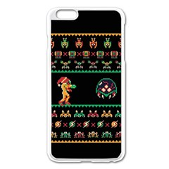 We Wish You A Metroid Christmas Ugly Holiday Christmas Black Background Apple Iphone 6 Plus/6s Plus Enamel White Case by Onesevenart