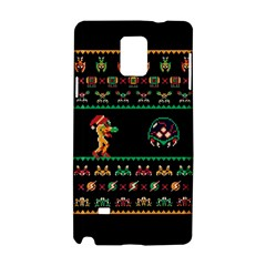 We Wish You A Metroid Christmas Ugly Holiday Christmas Black Background Samsung Galaxy Note 4 Hardshell Case by Onesevenart