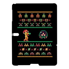 We Wish You A Metroid Christmas Ugly Holiday Christmas Black Background Samsung Galaxy Tab S (10 5 ) Hardshell Case  by Onesevenart