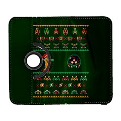 We Wish You A Metroid Christmas Ugly Holiday Christmas Green Background Samsung Galaxy S  Iii Flip 360 Case by Onesevenart