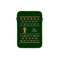 We Wish You A Metroid Christmas Ugly Holiday Christmas Green Background Apple Ipad Mini Protective Soft Cases by Onesevenart