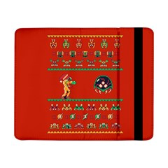 We Wish You A Metroid Christmas Ugly Holiday Christmas Red Background Samsung Galaxy Tab Pro 8 4  Flip Case by Onesevenart