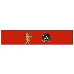 We Wish You A Metroid Christmas Ugly Holiday Christmas Red Background Flano Scarf (small) by Onesevenart