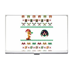 We Wish You A Metroid Christmas Ugly Holiday Christmas Business Card Holders by Onesevenart