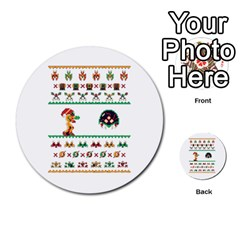 We Wish You A Metroid Christmas Ugly Holiday Christmas Multi Purpose Cards (round)  by Onesevenart