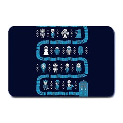 Who Is Outside Ugly Holiday Christmas Blue Background Plate Mats