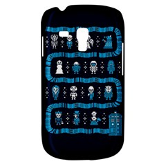 Who Is Outside Ugly Holiday Christmas Blue Background Samsung Galaxy S3 Mini I8190 Hardshell Case by Onesevenart