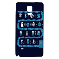 Who Is Outside Ugly Holiday Christmas Blue Background Galaxy Note 4 Back Case by Onesevenart