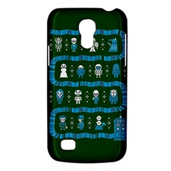 Who Is Outside Ugly Holiday Christmas Green Background Galaxy S4 Mini by Onesevenart