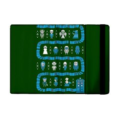 Who Is Outside Ugly Holiday Christmas Green Background Ipad Mini 2 Flip Cases by Onesevenart