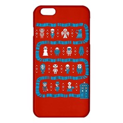 Who Is Outside Ugly Holiday Christmas Red Background Iphone 6 Plus/6s Plus Tpu Case by Onesevenart