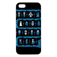 Who Is Outside Ugly Holiday Christmas Black Background Iphone 5s/ Se Premium Hardshell Case by Onesevenart