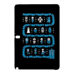 Who Is Outside Ugly Holiday Christmas Black Background Samsung Galaxy Tab Pro 12 2 Hardshell Case by Onesevenart