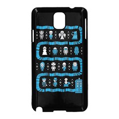 Who Is Outside Ugly Holiday Christmas Black Background Samsung Galaxy Note 3 Neo Hardshell Case (black) by Onesevenart